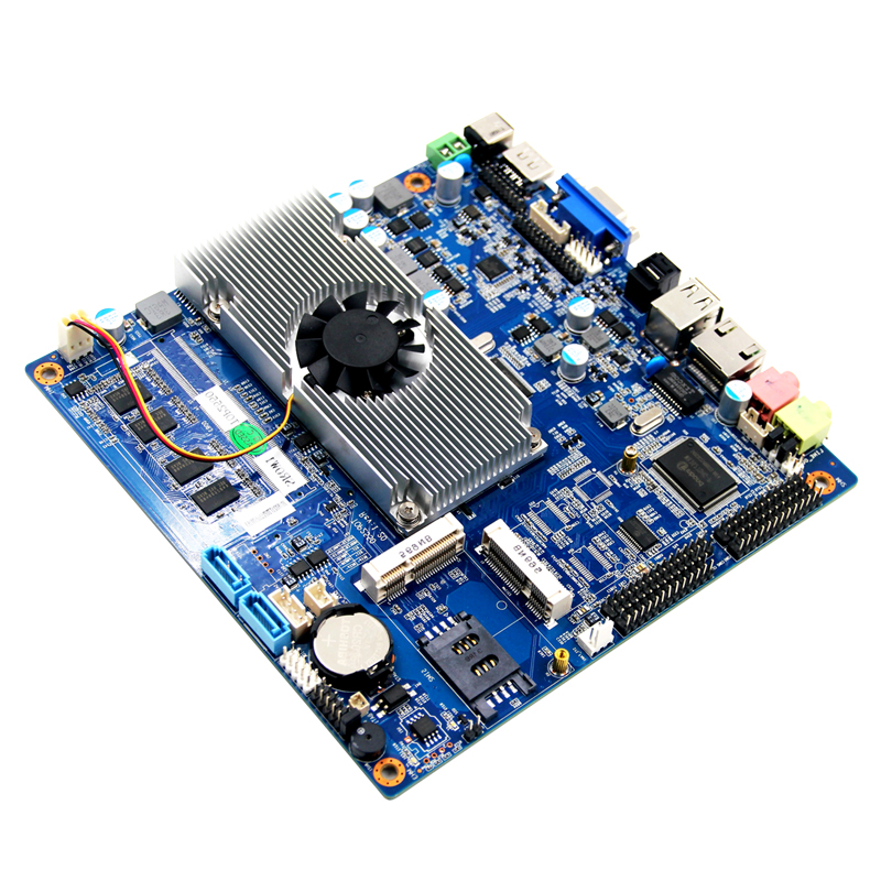 Industrial mini itx motherboard with Intel Atom D2550 dual core processor onboard 4GB memory
