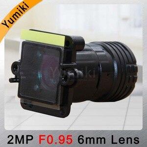 """Image 3 - Yumiki F0.95 F1.0 6mm ogniskowa obiektywu 2MP 1/2. 7 """"specjalne dla przetwornik obrazu IMX327, IMX307, IMX290, IMX291 płytką kamery moduł tablicy"""