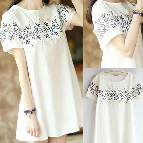 30909735e 2019 verano bordado de lino de manga corta vestido elegante bordado líquido  una pieza vestido plus tamaño vestido de ropa vestido 343 en Vestidos de La  ropa ...
