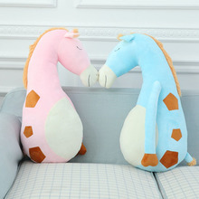 2016 creative hot sale giraffe boyfriend sleeping pillow single cute lovely plush stuffed toy doll gift free shipping