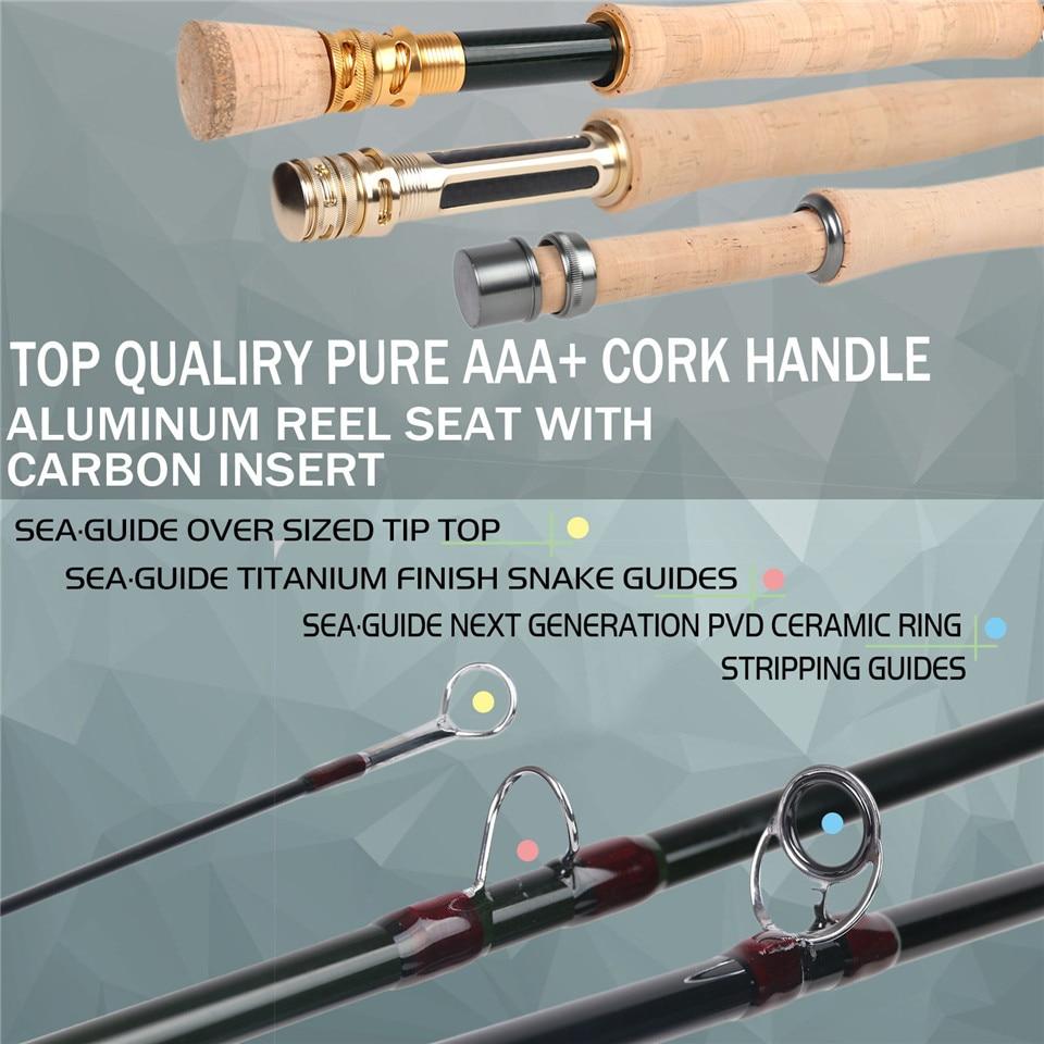 Maximumcatch Skyhigh 6-10ft 2-8wt удочка для ловли нахлыстом, графитовый IM12 Toray Carbon 3/4pc удочка для ловли нахлыстом с углеродной трубкой 5
