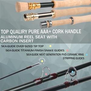 Image 5 - Maximumcatch Skyhigh 6 10ft 2 8wt Fly Fishing Rod แกรไฟต์ IM12 Toray คาร์บอน 3/4 PC บิน Rod คาร์บอนหลอด