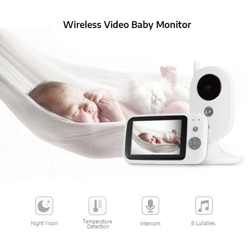 Camera Surveillance baby phone video baby monitor 3.5 inch LCD IR Night Vision Baby Intercom 8 Lullabies Temperature MonitorCamera Surveillance baby phone video baby monitor 3.5 inch LCD IR Night Vision Baby Intercom 8 Lullabies Temperature Monitor