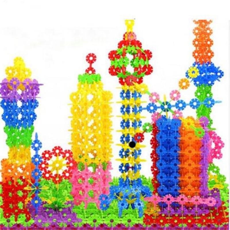 300-1200pcs Big Size Children Kid Baby Toys Multicolor Building Blocks Snowflake Creative Educational Construction Plastics Toys Toys & Hobbies