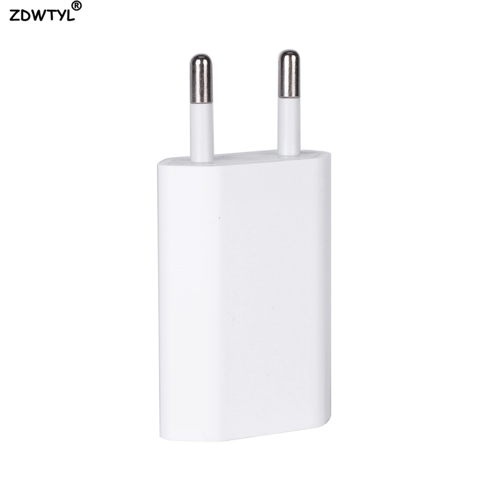 EU Stecker USB Kabel AC Travel Wand Lade Ladegerät Power Adapter Für Apple <font><b>iPhone</b></font> 5 5S SE 5C <font><b>6</b></font> 6s 7 8 Plus X XR XS Max Ladegerät image