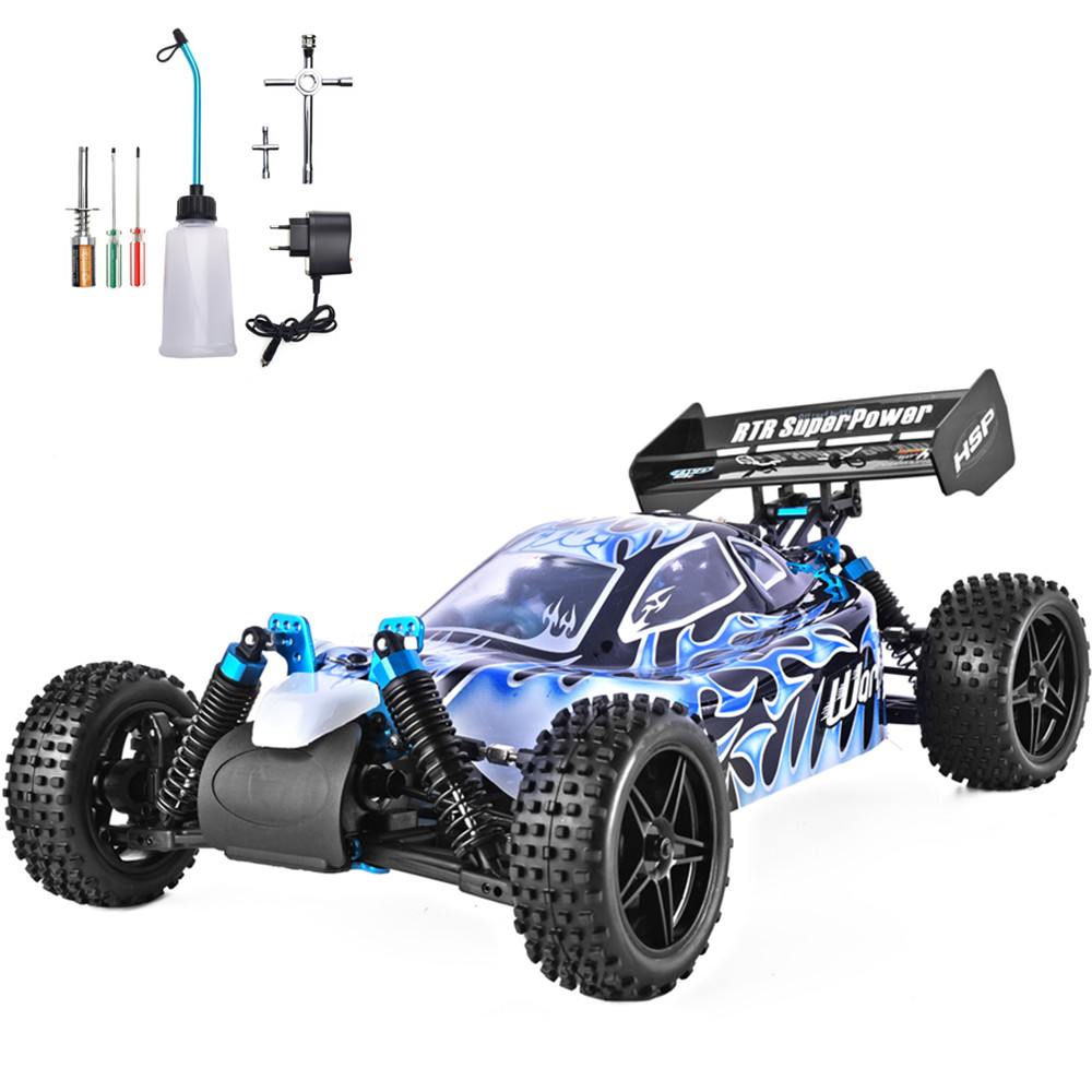 HSP RC Car 1:10 Scale 4wd RC Toys Two Speed Off Road Buggy Nitro Gas Power 94106 Warhead High Speed Hobby Remote Control Car цена