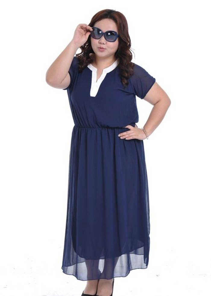 Aliexpress.com : Buy 2013 fashion Plus Size chiffon Dress Female ...