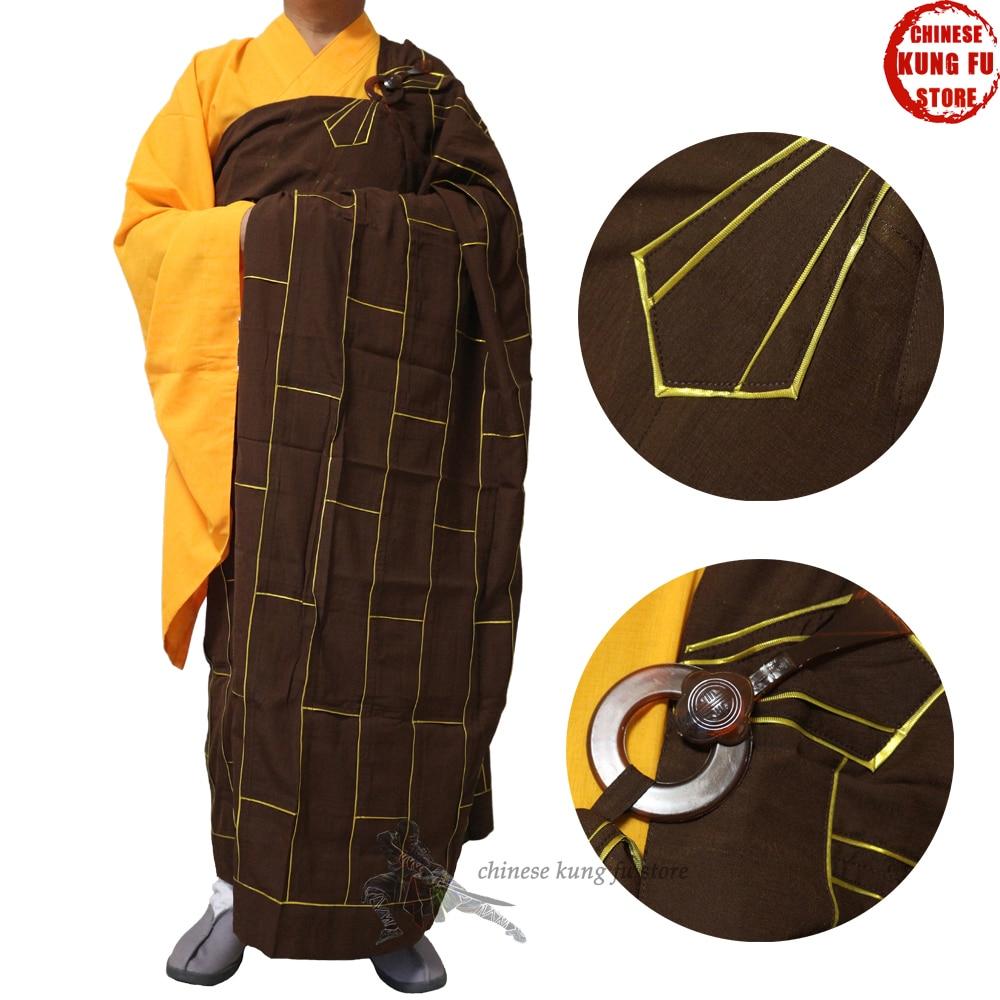 Top Quality Buddhist Monk Dress Kesa With Inside Haiqing Robe Shaolin Uniform Meditation Suit