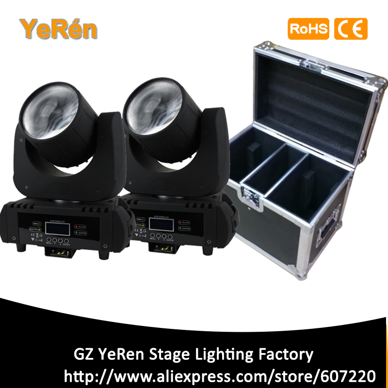 (2 Pieces/lot) Beam Led Moving Head Light Beam 60W Led Lamp DMX 11 Channels 6 colors Stage Lighting DJ Lighting with flight case cheap stage lighting 132w 2r mini sharpy beam moving head disco light with flight case dj equipment 14 gobo dmx stage lighting