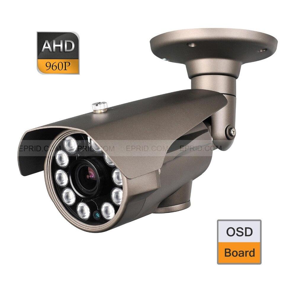 CCTV AHD 1.3MP 960P 2.8-12mm Varifocal Lens Camera IR-Cut OSD 10 Array IR cctv ahd 1 0mp 720p 84 ir 2 8 12mm varifocal lens security icr camera osd