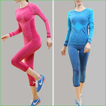 WST03 Fitness Gym Body Shirt Compression Tights women's Sport T Shirts Women Running Long Sleeve T-Shirts  Sport Wear