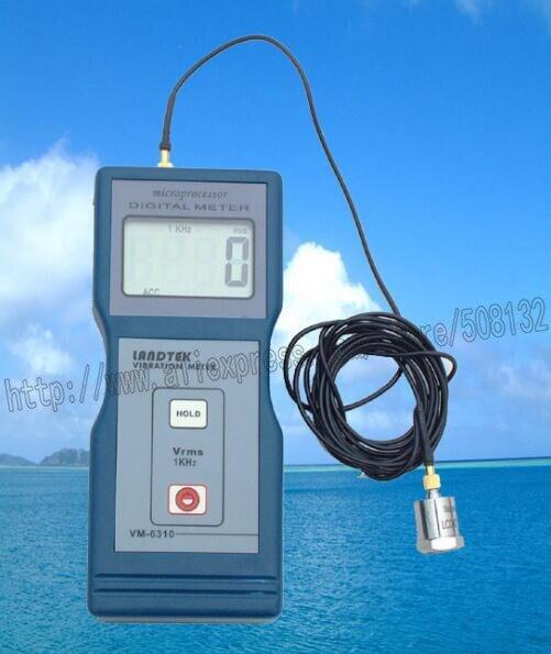 LANDTEK VM 6310 Vibration Meter 0 01 199 9 mm s True RMS Vibrometer VM6310