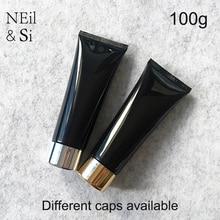 무료 배송 100g 블랙 플라스틱 화장품 크림 병 100 ml 페이셜 클렌저 로션 튜브 호텔 공급 샴푸 포장 병