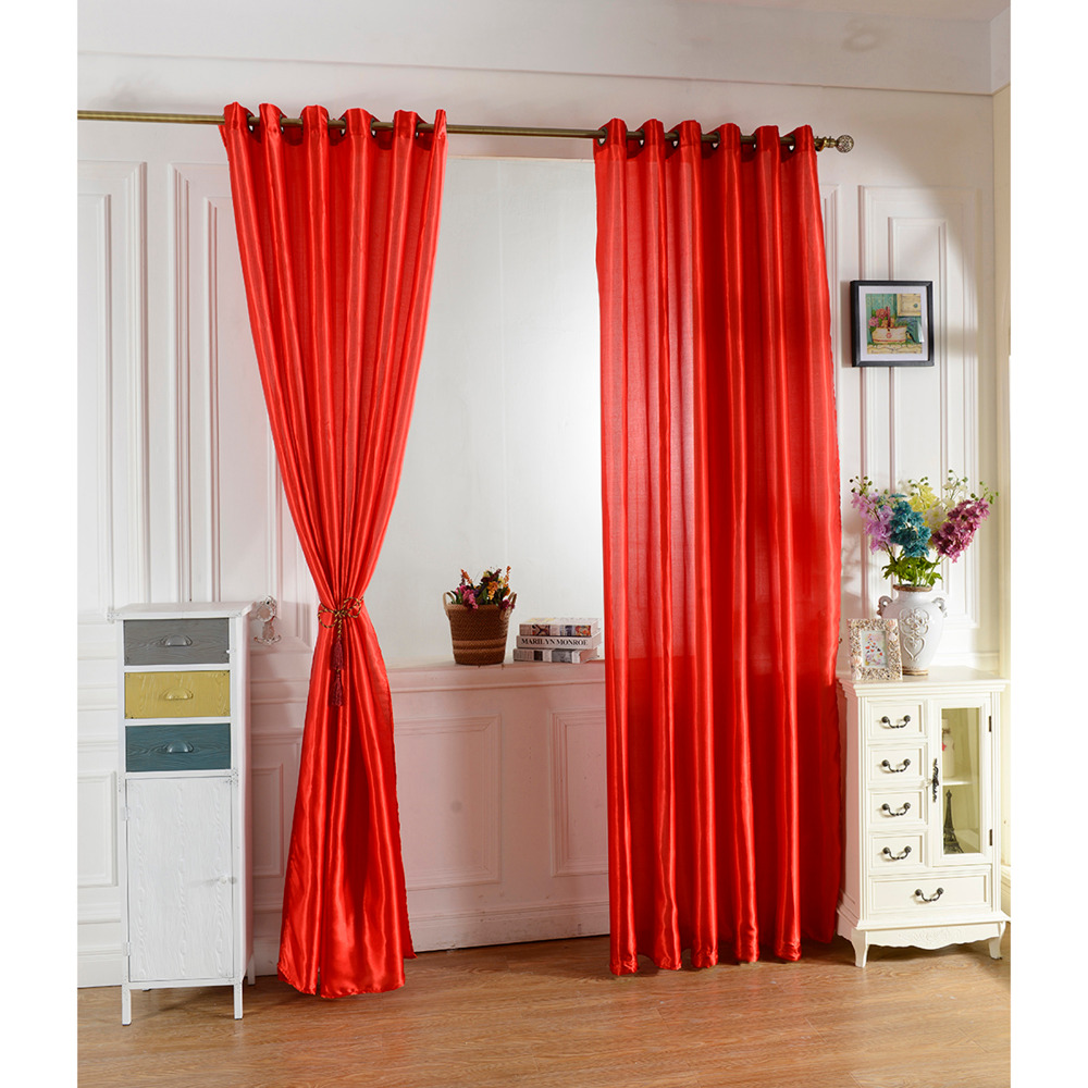 Living room curtains red - 100 250 Red Color Curtain Window Curtains For Kids Boys Girls Bedding Room Living Room Elegent Bule Drapes Cortinas Para Sala