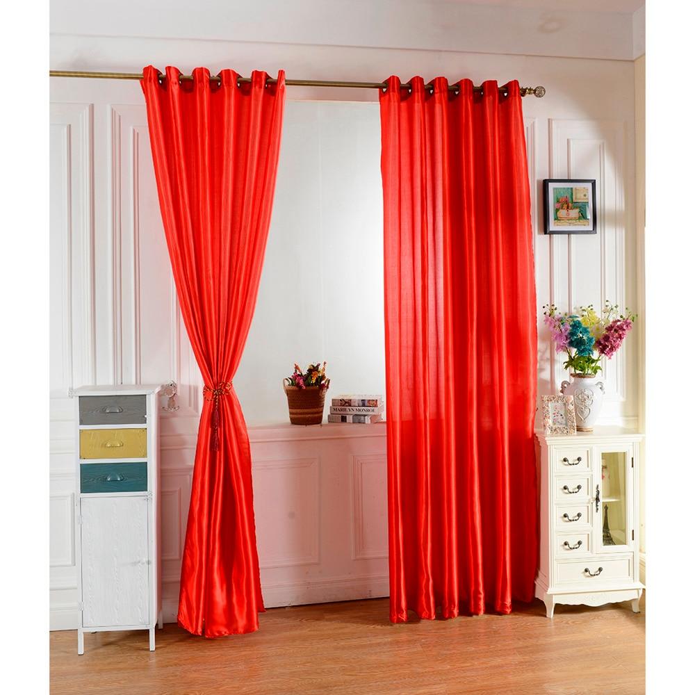 Buy 100 250 red color curtain window for Como hacer cortinas para sala