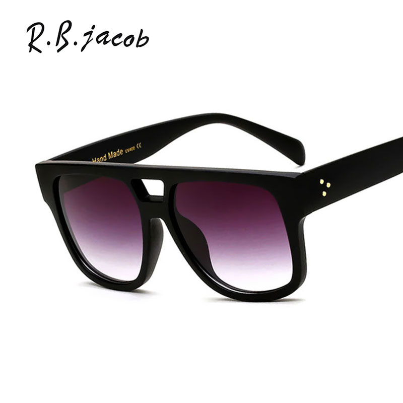 2017 Classic Top Flat Sunglasses Women Men Leopard Clear Brand Designer Sun Glasses Cool Trend Goggle UV400 Vintage Accessory