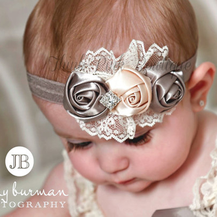 baby girl headband Infant hair Band newborn   Headwear   tiara headwrap Toddlers Ribbon Kids Rose Lace Flower turban Hair Accessorry