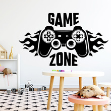 Lovely game zone Self Adhesive Vinyl Waterproof Wall Art Decal For Kids Room Decoration Decal Mural Living Room Wall Stickers free shipping dancing self adhesive vinyl waterproof wall decal for kids room decoration waterproof wall art decal naklejki