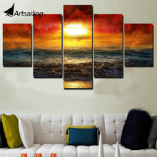 Framed Printed amazing sunset artistic Painting on canvas room decoration print poster picture Free shipping/ny-4167