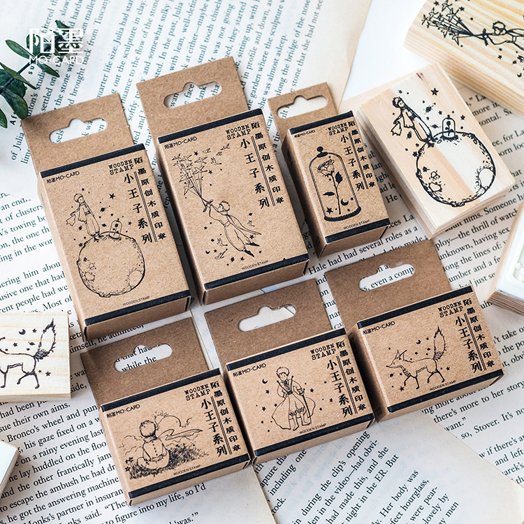Kawaii Le Petit Prince Stamp Diy Wooden Rubber Stamps Seal For Scrapbooking Student Prize Promotional Gift Stationery