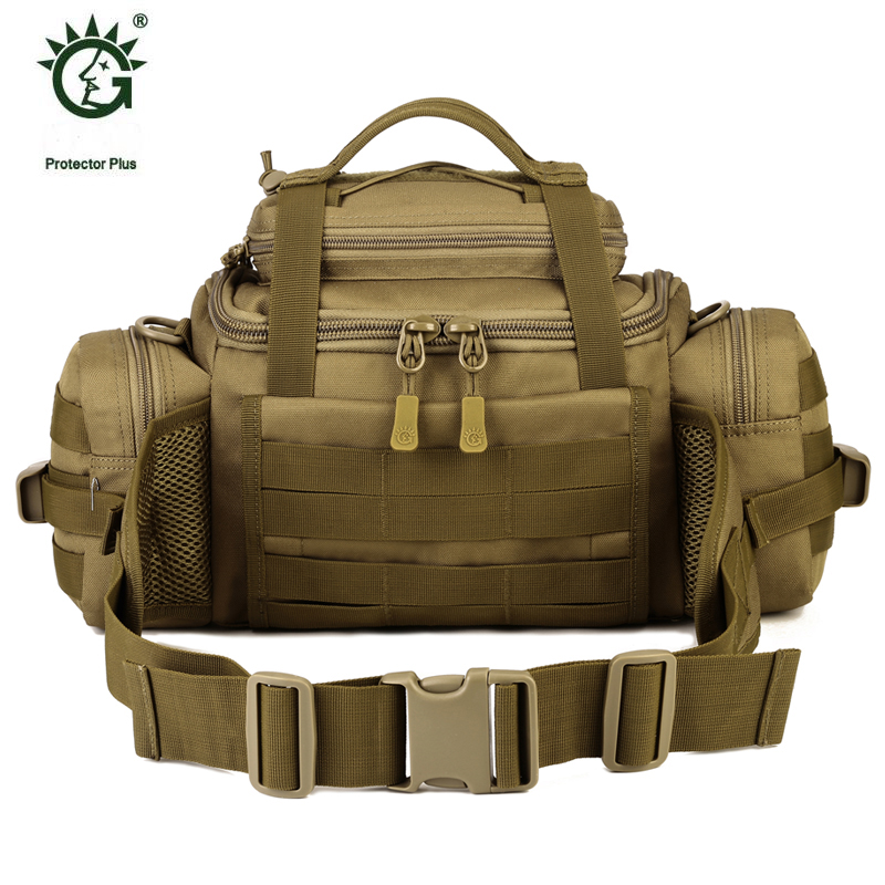 Famous Brand Outdoor Military Molle Tactical Pouch Bag For Sports Hiking Walking Waist Messenger Shoulder Bag