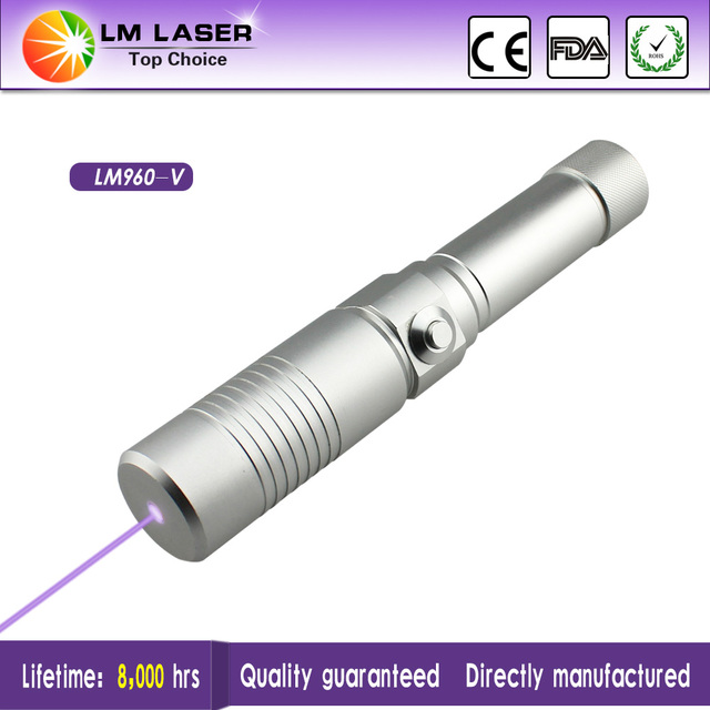 Focusable High Power Violet Laser Pointer 500mW 405nm Laser Flashlight With Safty Keys Rechargeable