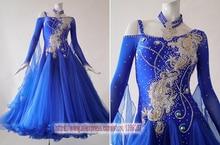 Ballroom Dresses For Women New Royal Blue Profession Tango Flamenco Waltz Modren Ballroom Competition Dance Dress