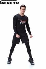 черный Длинные рукава бег трусцой Тканые костюмы для фитнеса Запуск спортивной одежды для растяжки Спортивная одежда Спортивная одежда 3шт