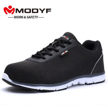 Lightweight MODYF Mens Steel Toe Work Safety Shoes