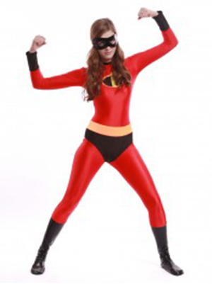 The Incredibles Mrs Incredible Spandex Superhero Costume Zentai Bodysuit Halloween Costumes for Woman Hot Sale