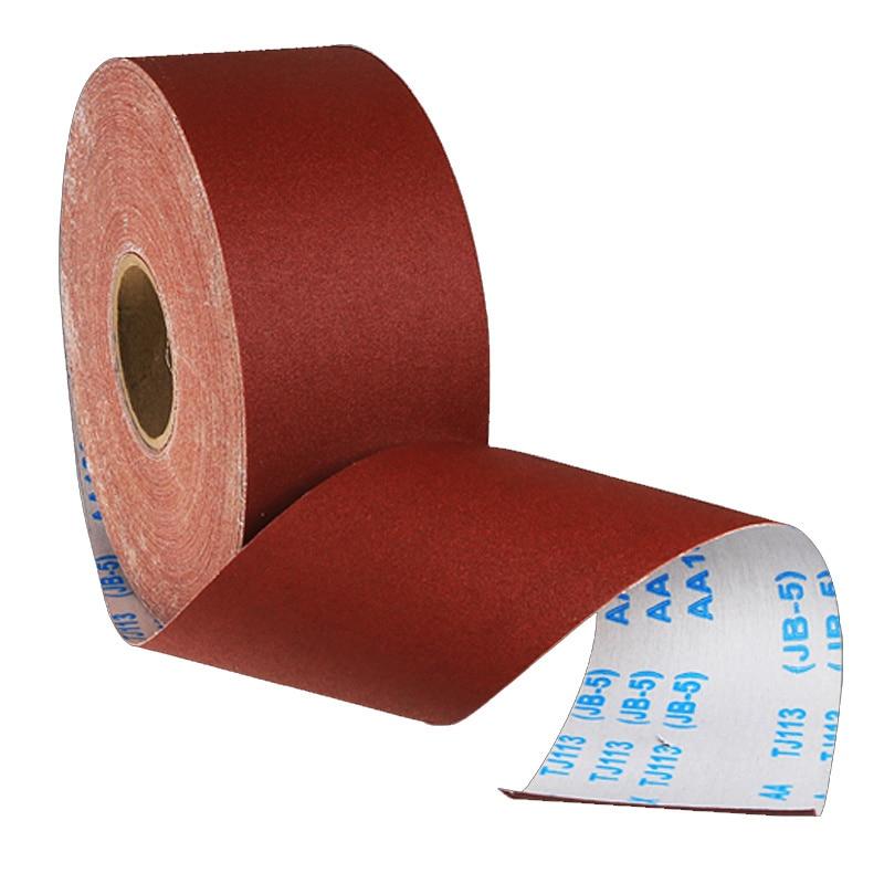 1M Sand Cloth Roll Hand Tearing Cloth Belt Woodworking Grinding Sandpaper Polishing Tools For Furniture Metal Polishing