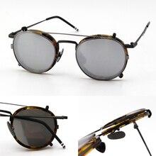 b0353fe582 Nueva York marca TB710 gafas hombres anteojos ópticos con clip gafas de sol  de gafas vienen con caja Original