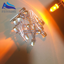 1000PCS 5mm LED Flackern Dioden Blinkt Gelb Blinkt Kerze Licht Emittierende Diode Flackern Blitz Blink Diodo danshan Y