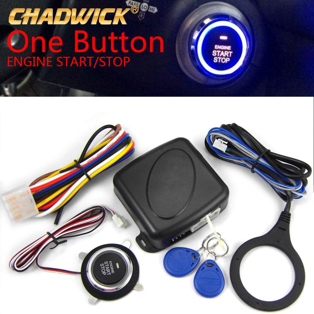 Keyless Entry Car Push Start Button Rfid Lock Engine: Engine Push Button Start Stop RFID Lock Ignition Switch