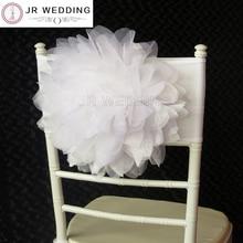 Shipping10pcs белой органзы Цветочная рама стула фигурка скамейки Band для Свадебные украшения вечерние Применение