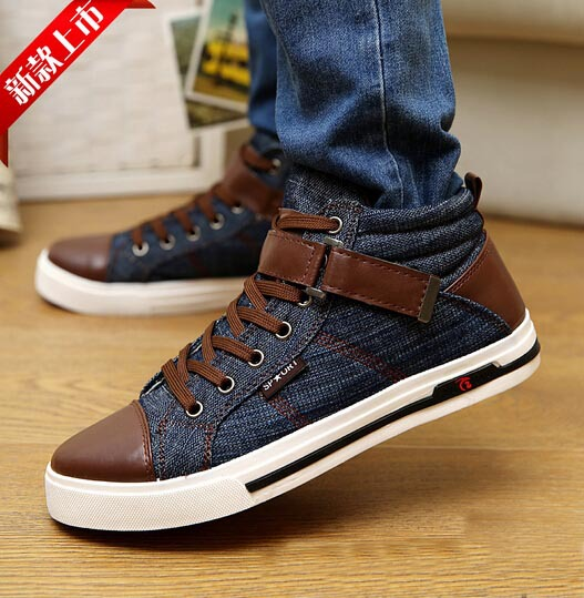 Mens Jeans Shoes Mens Casual Shoes High Quality Fashion Cool Jean Shoes  with Buckle Discount Cheap ceb4901b6e8d