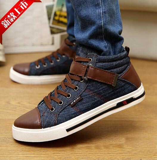 Mens Jeans Shoes Mens Casual Shoes High