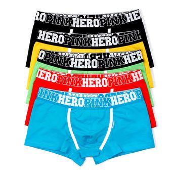 1 قطع أزياء الرجال تنفس boxershorts زائد حجم السراويل القطنية داخلية الأزياء مثير الملاكم الصلبة شاطئ موجز 5 ألوان 1