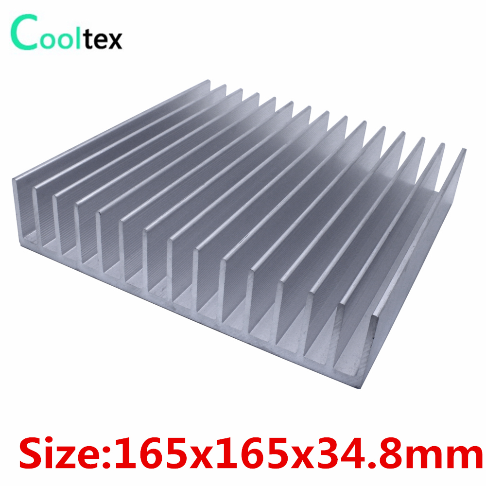 Aluminum heatsink 165x165x34.8mm cooler heat sink radiator for LED Electronic Power Amplifier integrated circuit cooling gs2964 ine3 integrated circuit mr li