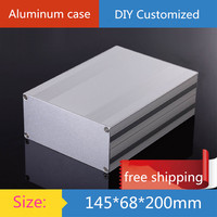 KYYSLB 145*68*200mm Mini Aluminum Amplifier Chassis Power Controller GPS Instrumentation Shell AMP Enclosure Case DIY Box