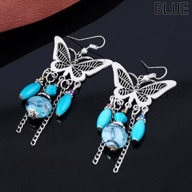 Long Dangle Earrings Bohemian Retro Butterfly Tassel Earrings Jewelry Personality For Women Jewelry Drop Earring