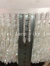 10 yards/bag fs001# crystal beads tassel fringe 5cm width for decoration dress/fashion designer,
