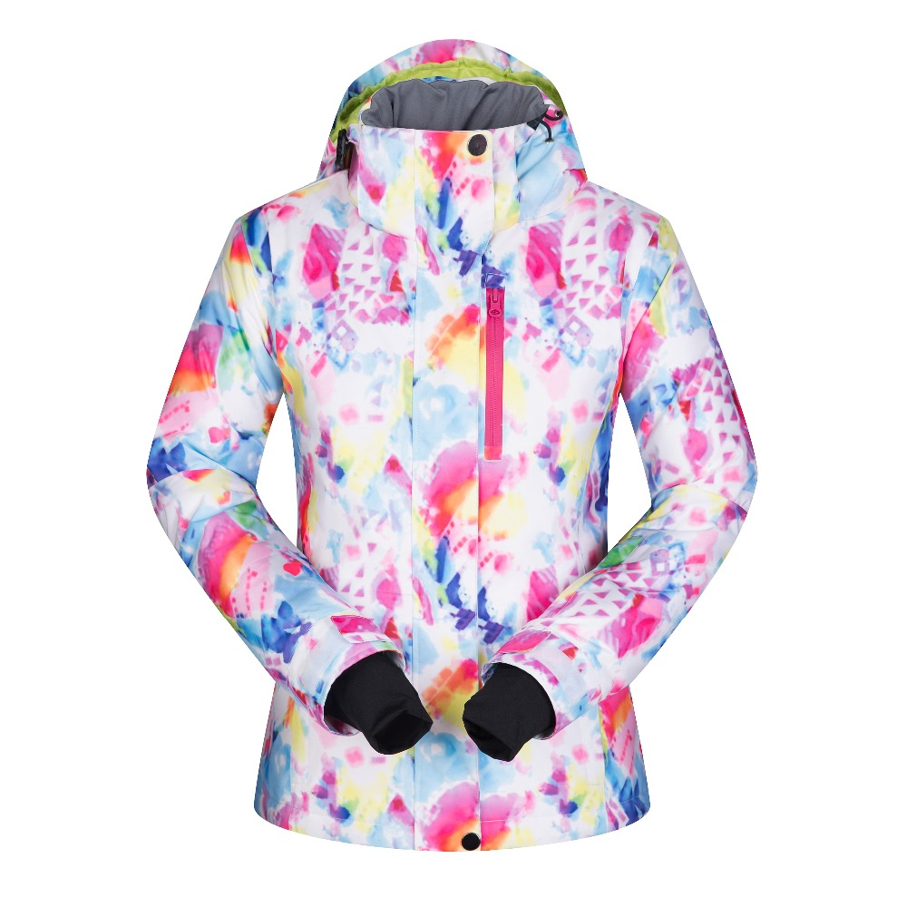 2017 High Quality Ski Jackets Women Windproof  Waterproof Warmth Snowboard Coat Snow Skiing Winter Sportswear Camping Clothing newest high quality waka 05 leopard print color winter waterproof snowboard coat ski jacket for women page 1