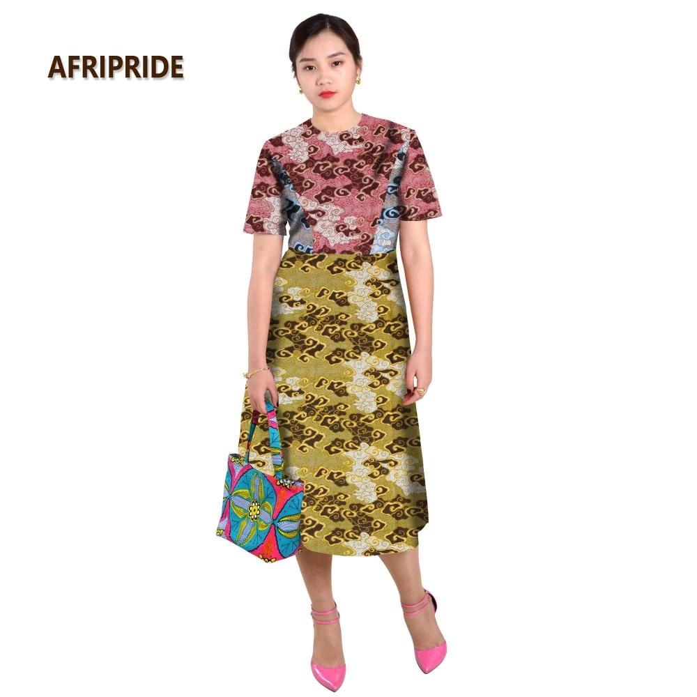 Afrikanska klänningar för kvinnor splitsning kjol sexiga stilar - Nationella kläder - Foto 2