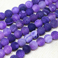Hot sale purple natural weathered round agate onyx beads 4,6,8,10,12mm fashion wholesale charms diy jewelry making 15inch B1592
