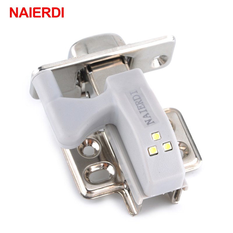 4pcs naierdi universal hinge led sensor light 0.25w inner cabinet