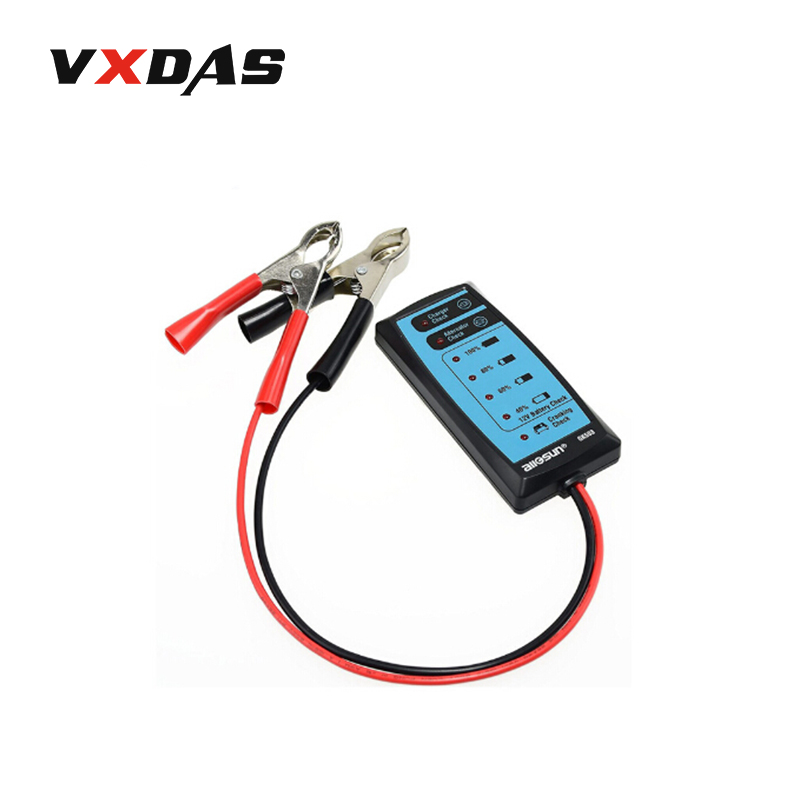 All Sun Battery Tester GK503 Mini 12V Automotive/Car Battery Charger/Alternator/Cranking Check with 6LED Display Easy to Use  em281 mini 12v 24v automotive battery tester lcd bar indication battery load tester electrical all sun em281 battery analyzer
