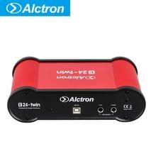 лучшая цена Alctron U24TWIN Dual 2 Channels External Sound Card Computer Cellphone Sound Card with USB Port