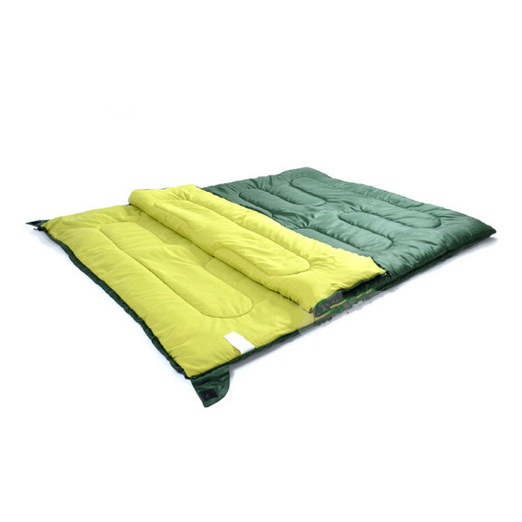 Cotton Filling Adult Spring And Winter Envelope Thick Warm Double Sleeping Bag Can Be Splited To Two Sleeping Bags west biking camping sleeping bag lunch adult sleeping bag can fight double sleeping spring autumn and winter thick sleeping bag