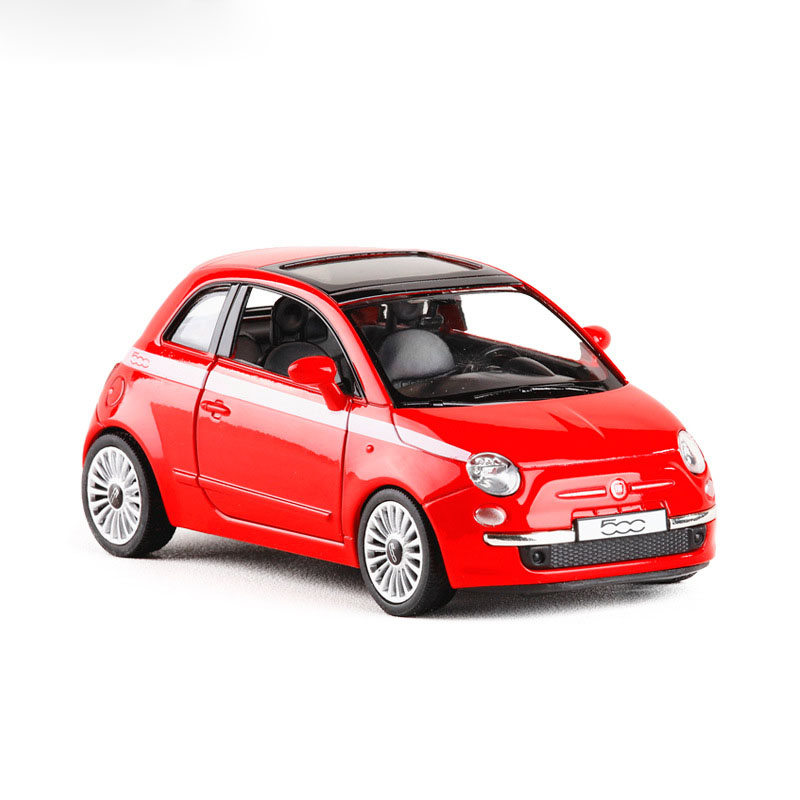 Brand New High Simulation RMZ City 1:28 Metal FIAT 500 Alloy Diecast Model Car Alloy Toys For Children Gifts Toys Free Shipping